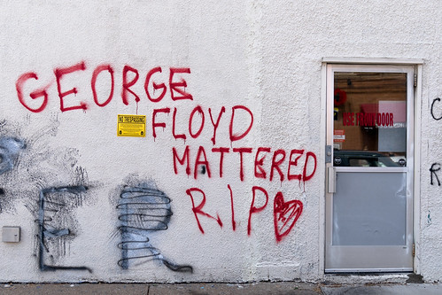 George Floyd Mattered graffiti along 38t by Lorie Shaull, on Flickr