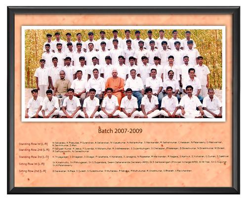 Batch 2007-2009 - IARD, Coimbatore