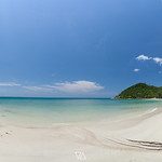 Panorama view of Haad Khuad Beach  or bottle beach in Phangan Island, Thailand