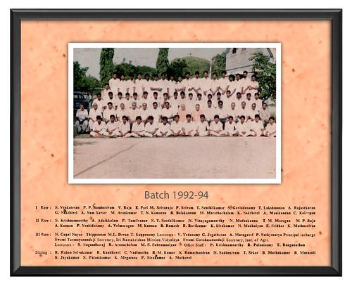 Batch 1992-94 - IARD, Coimbatore
