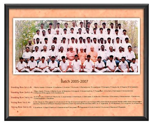 Batch 2005-2007 - IARD, Coimbatore