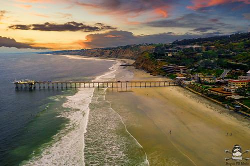 Scripps Pier Sunsent San Diego