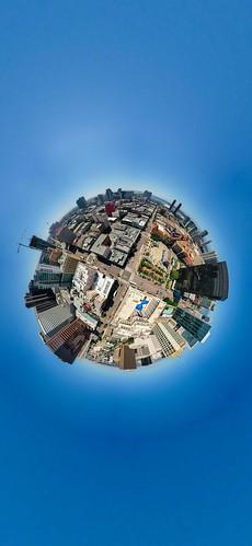Downtown SanDiego Tiny planet