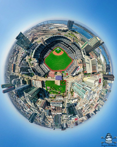 Petco Park San Diego Tiny planet