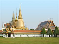 Le Wat Phra Kaeo (Palais royal de Bangkok, Thaïlande)