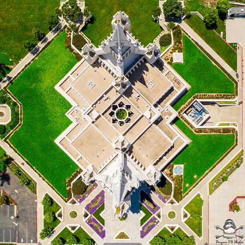 Birdseye view of Mormon Temple