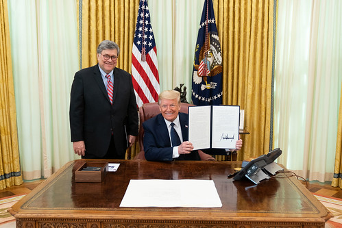 President Trump Signs an Executive Order on Preventing Online Censorship  (of QAnon, and US/Nazi propaganda).  Oh are they happy!, From FlickrPhotos