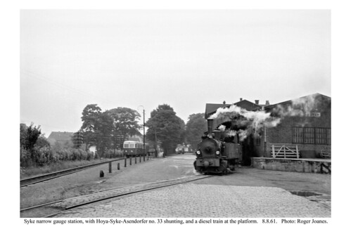 Syke. HSA no. 33 shunting, and diesel train. 8.8.61