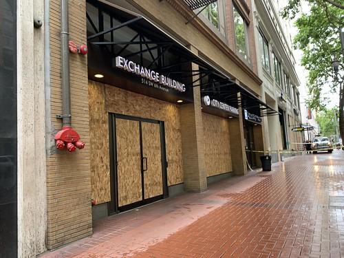 Post Portland riots. Banks, jewelry stor by drburtoni, on Flickr