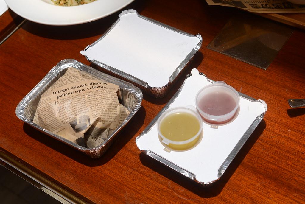 歐華酒店歐麗蛋糕坊 煙燻鮭魚紫芋漢堡1