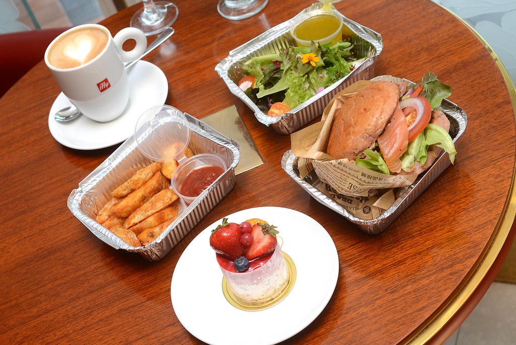 歐華酒店歐麗蛋糕坊 煙燻鮭魚紫芋漢堡2