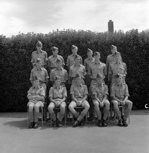 1966 'C' Flight Number 23 Airman Cadet Course, Airman Cadet School, RNZAF Station Woodbourne, 19 Jan 1966.