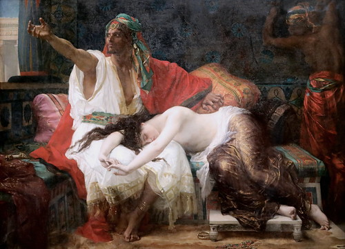 IMG_7542C Alexandre Cabanel. 1823-1889. Paris.  Thamar. 1875.   Nice Musée des Beaux Arts. Exposition temporaire à  Paris Orsay.