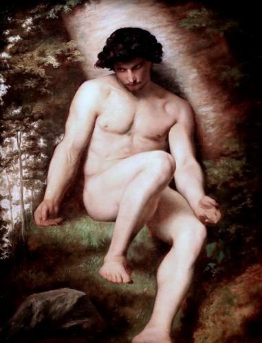IMG_7411 Alexandre Cabanel. 1823-1889.  Paris.  Adam, étude pour le paradis perdu.    Adam, study for the lost paradise. Vers 1865.  Paris. Orsay;