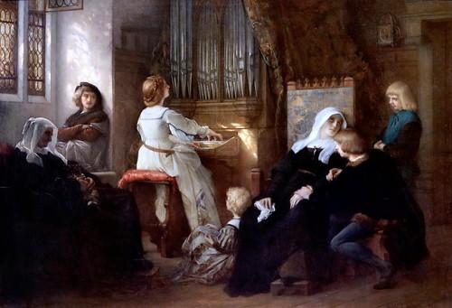 IMG_2683 Alexandre Cabanel. 1823-1889. Paris.  La Veuve du maitre de chapelle.  The Widow of the chapel master. 1859 Paris Petit Palais (Musée des Beaux Arts de la Ville de Paris)