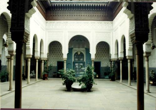 Marruecos. Casablanca, patio central