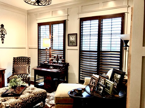 3 1/2 Rear Tilt Stained Shutters- Atlanta, Ga