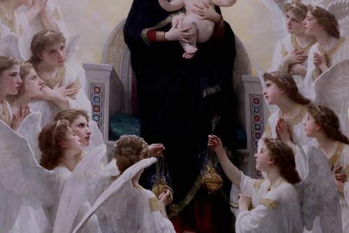IMG_1721D William Bouguereau. 1825-1905. Paris.   La Vierge aux anges.  The Virgin with angels.1900.     Paris Petit Palais (Musée des Beaux de la Ville de Paris)