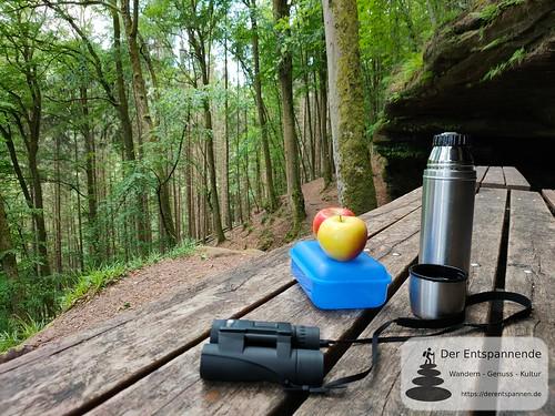 Bärenfelsen mit Bärenhöhle - Felsenwanderweg um Rodalben im Pfälzer Wald