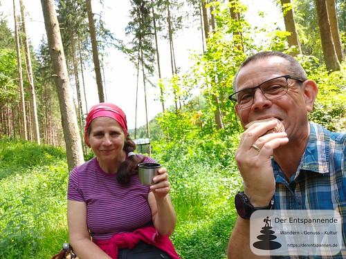 Vesper an der Teufelshütte - Felsenwanderweg um Rodalben im Pfälzer Wald