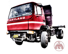 0058 Derelict Leyland Truck Cut Out