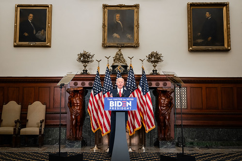 Press Conference in Response to Protests by Biden For President, on Flickr