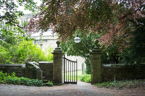 Gate to St Brandon's Church, Brancepeth, England