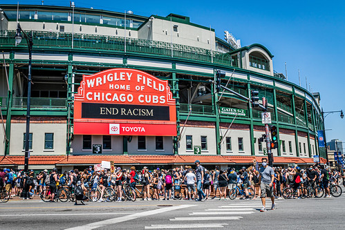 """Northside Protest for Black Lives, June 2nd, 2020, at Wrigley Field, Chicago 