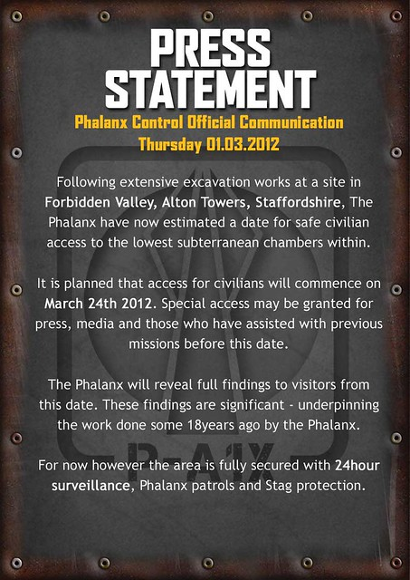 Phalanx Control Twitter Feed - 'Press Statement'