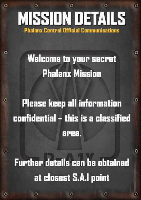 Phalanx Control Twitter Feed - Mission Details