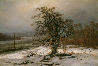 Dahl Johan Christian - Oslo - National Museum of Art, Architecture and Design - Oak Tree by the Elbe in Winter (1853) (olio su tela 91,5 x 62,5 cm)