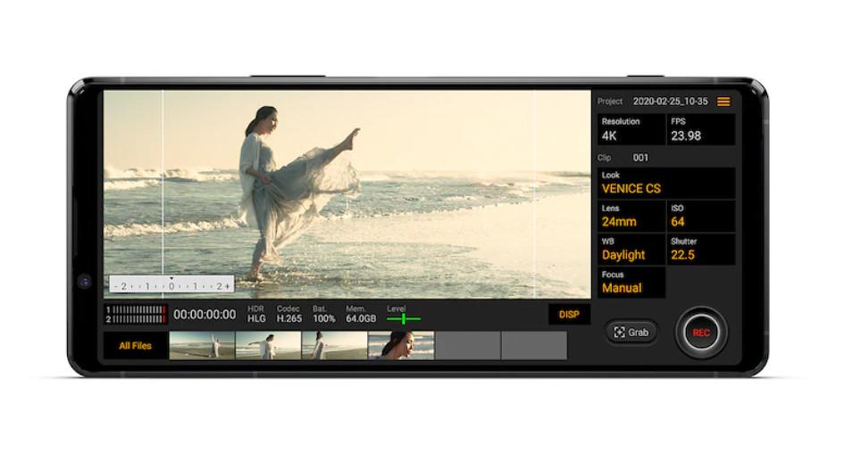 圖說五、Xperia 1 II內建的Cinema Pro功能再進化!加入獨特智慧風切聲過濾技術,人人都能一秒變大師