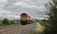 Photo of 66 118 with 3Z19 at Stainton Crossing, Carlisle.