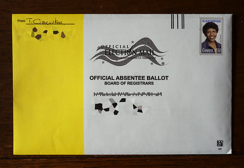 I voted! (by mail) by Thomas Cizauskas, on Flickr