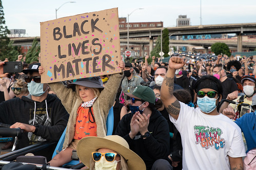 Black Lives Matter march in Portland, OR by Matthew Almon Roth, on Flickr