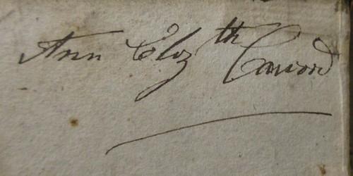 Penn Libraries PR4699.E56 O7 1814 copy 2: Inscription