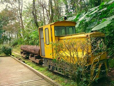 (圖12)花蓮池南國家森林遊樂區的池南汽油機關車