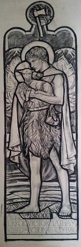 St John Baptist as a boy - for window at Michaelhose School, Balgowan
