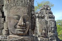 Tours à visages (Bayon, Angkor Thom, Cambodge)