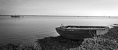 Photo of Sailing dingy beside the Ruver Ribble, Lytham Beach, Lancashire,England, UK