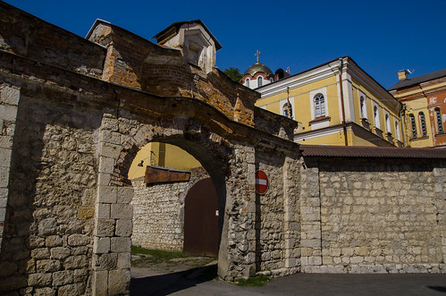 Some gates near the wall of New Athos Monastery