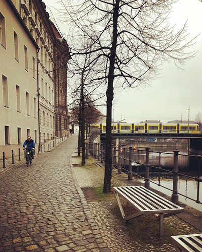 cobbled streets, train and the canal...
