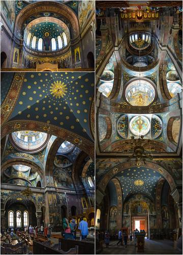 The interior of the Church of St. Panteleimon. New Athos Monastery, Abkhazia.