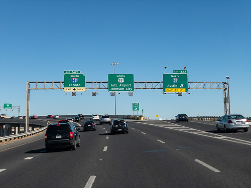 Driving north on 281, headed to the airport