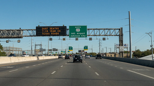 San Antonio highway driving in traffic