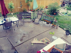 June 6, 2020 - Lawn furniture pushed around by the wind. (Carla Romero)