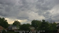 June 3, 2020 - Cool evening clouds. (ThorntonWeather.com)