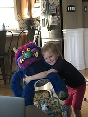 "Dani Hugs My Pet Monster • <a style=""font-size:0.8em;"" href=""http://www.flickr.com/photos/109120354@N07/49985178117/"" target=""_blank"">View on Flickr</a>"