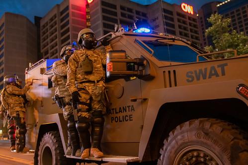 Curfew Patrol by Georgia National Guard, on Flickr