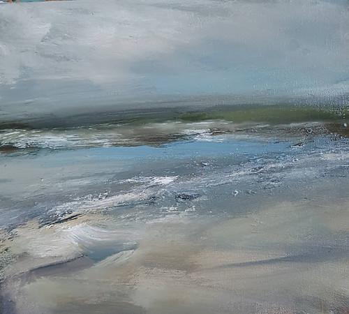 TINA BROOKS 203 Spring Blues. Oil on canvas. 32x28cm. TB. 2020. €485